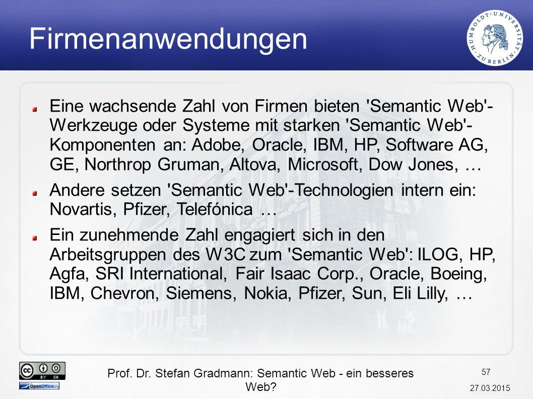Prof. Dr. Stefan Gradmann: Semantic Web - ein besseres Web