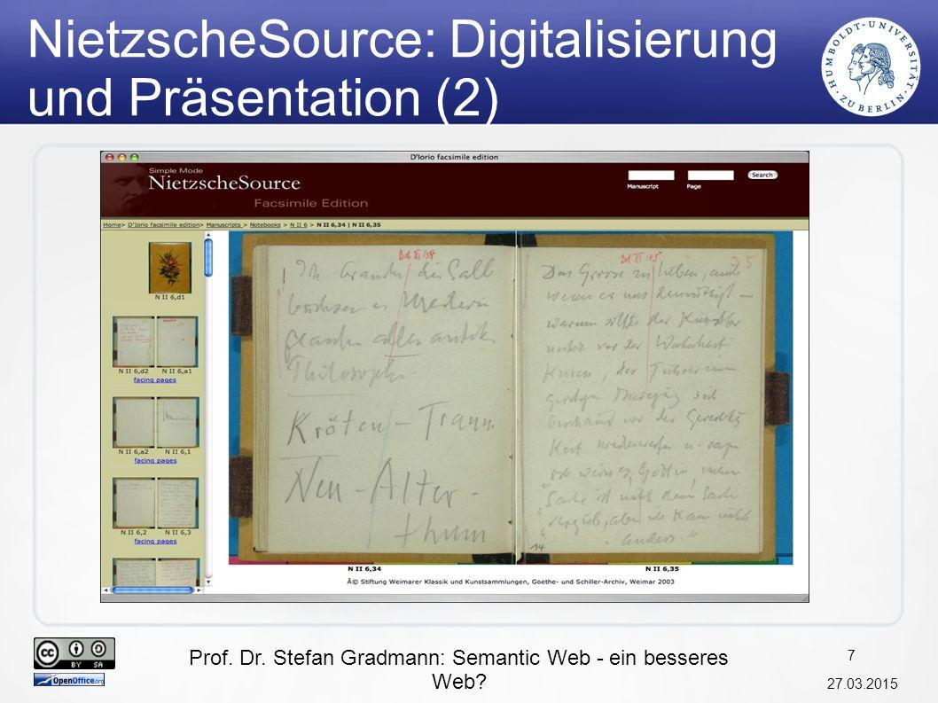 NietzscheSource: Digitalisierung und Präsentation (2)