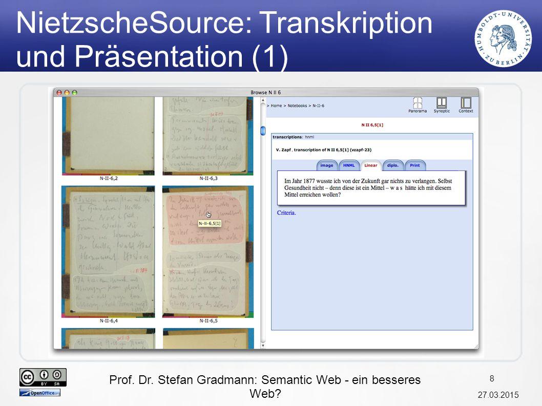 NietzscheSource: Transkription und Präsentation (1)