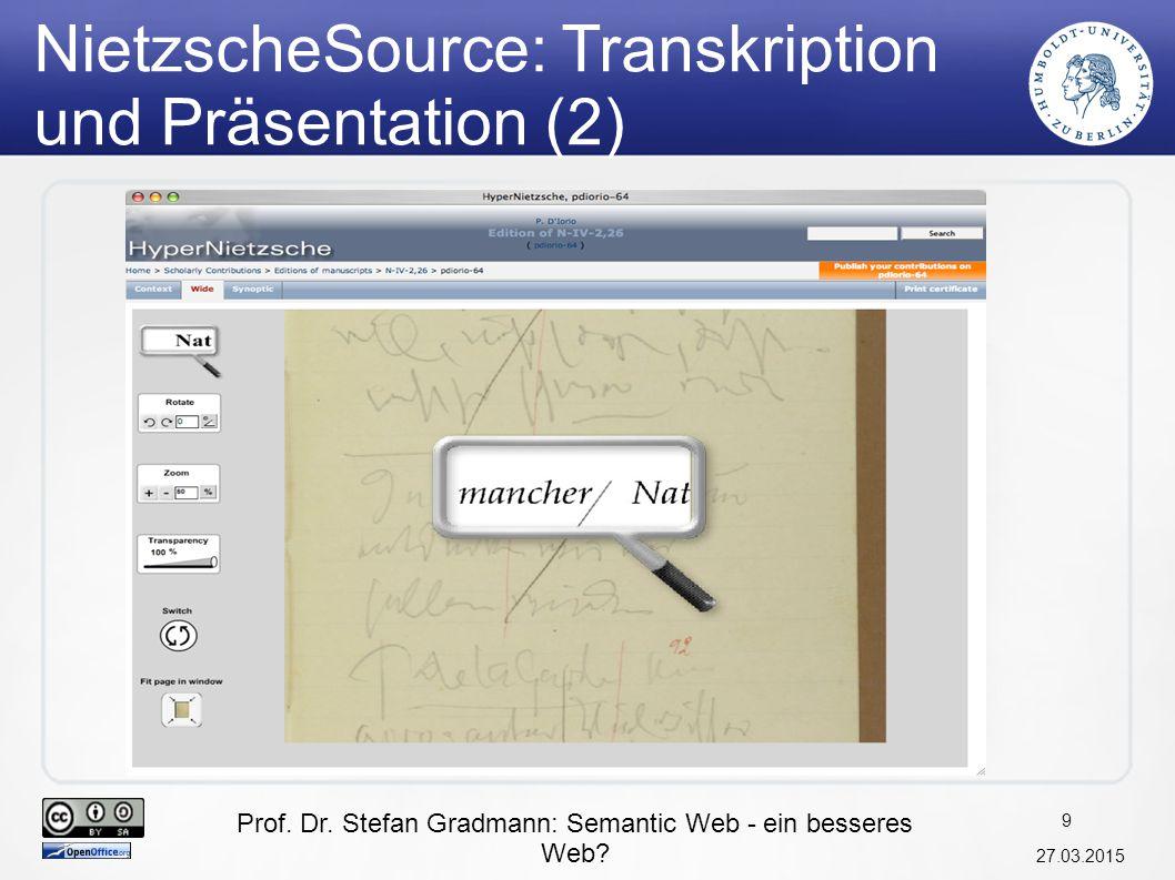 NietzscheSource: Transkription und Präsentation (2)