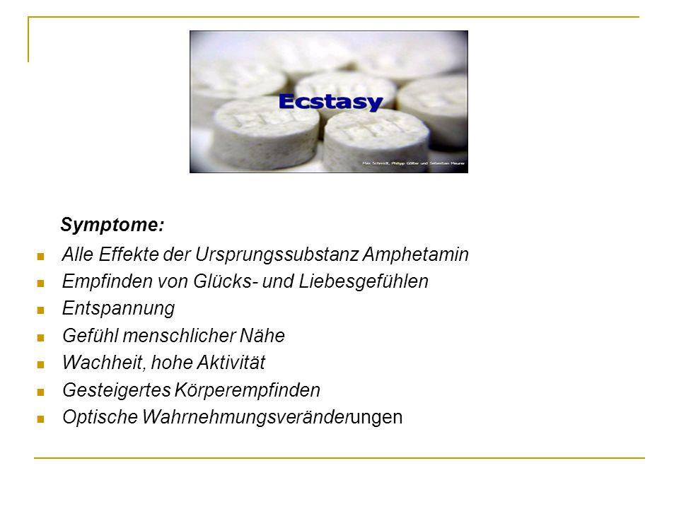 Symptome: Alle Effekte der Ursprungssubstanz Amphetamin