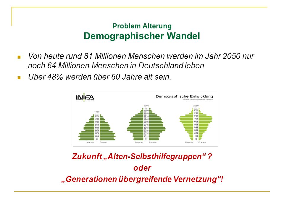 Problem Alterung Demographischer Wandel
