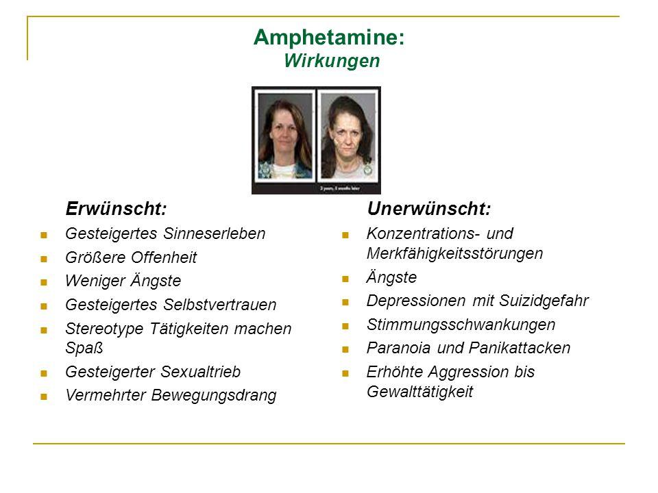 Amphetamine: Wirkungen