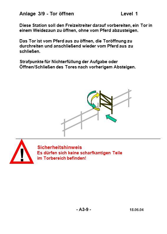 ! Anlage 3/9 - Tor öffnen Level 1 Sicherheitshinweis