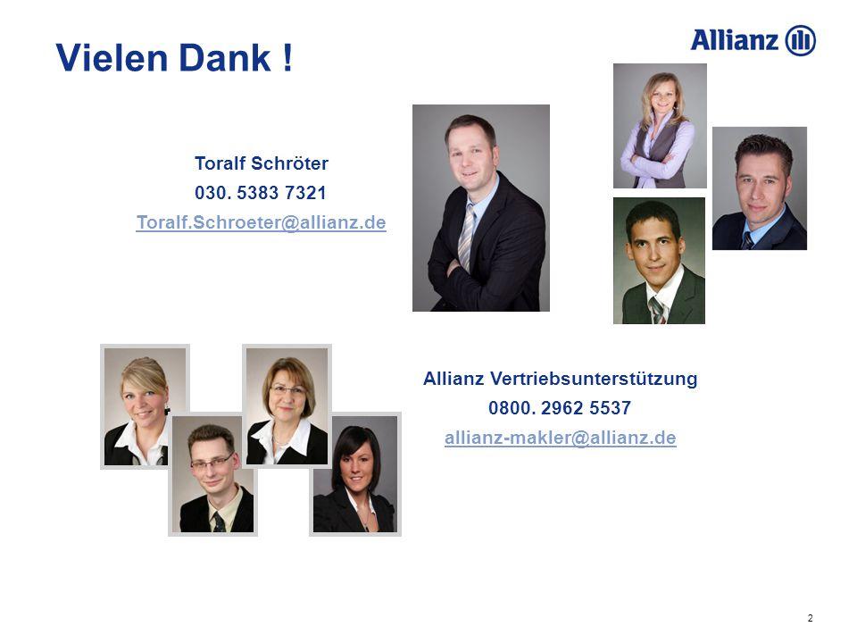 Allianz Vertriebsunterstützung