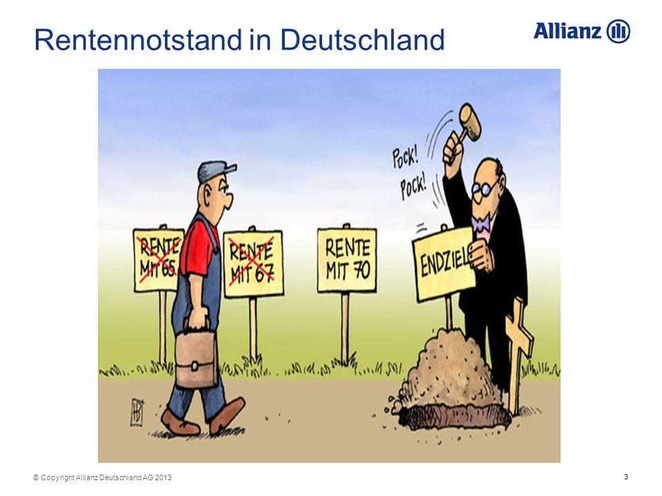 Rentennotstand in Deutschland