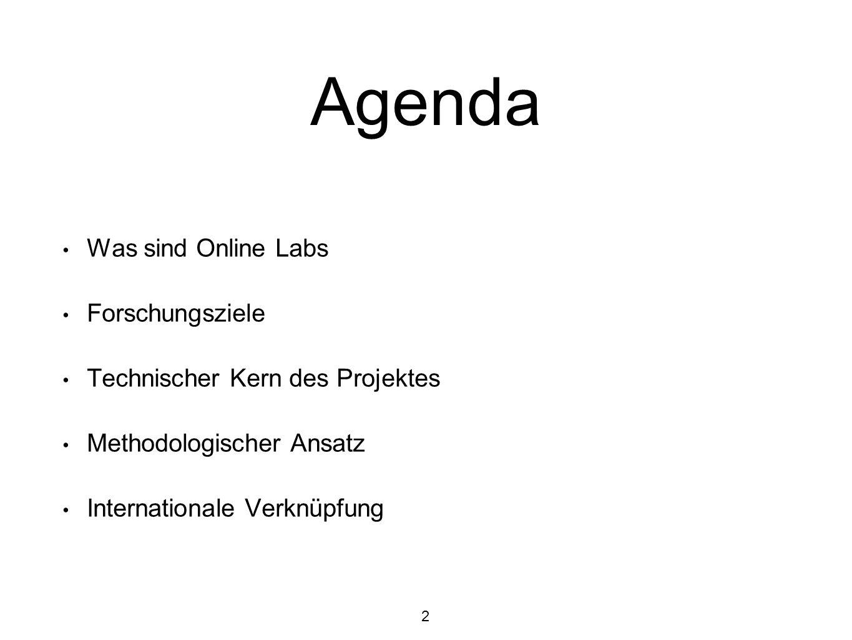 Agenda Was sind Online Labs Forschungsziele