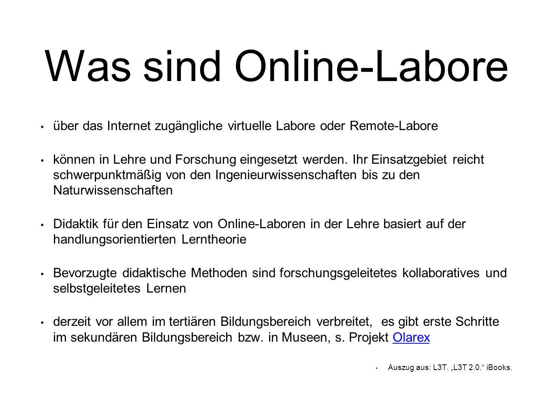 Was sind Online-Labore