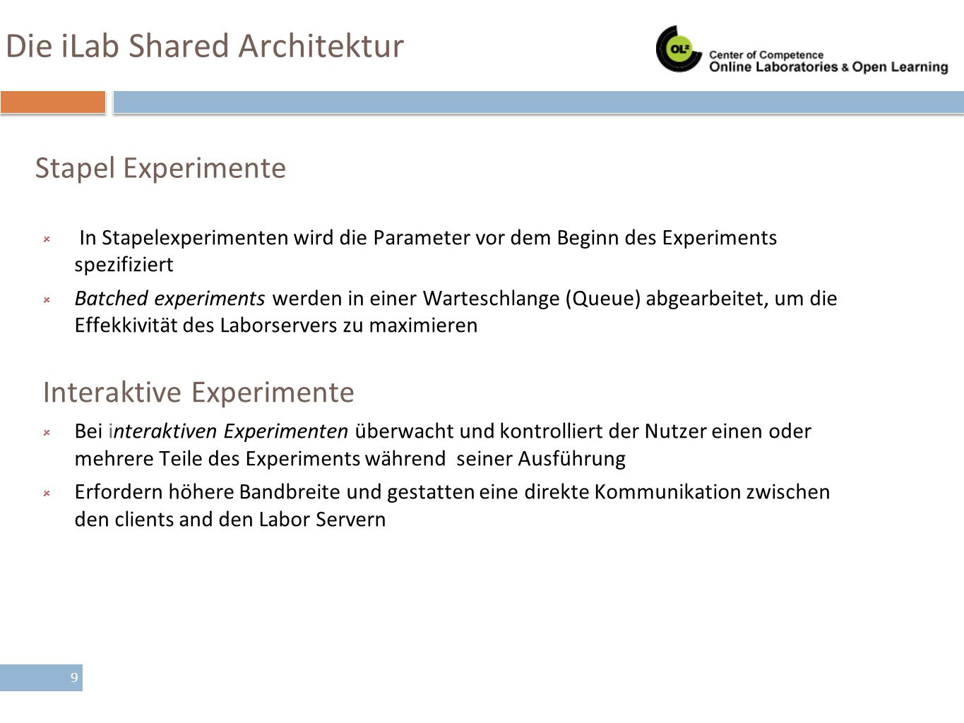 Die iLab Shared Architektur