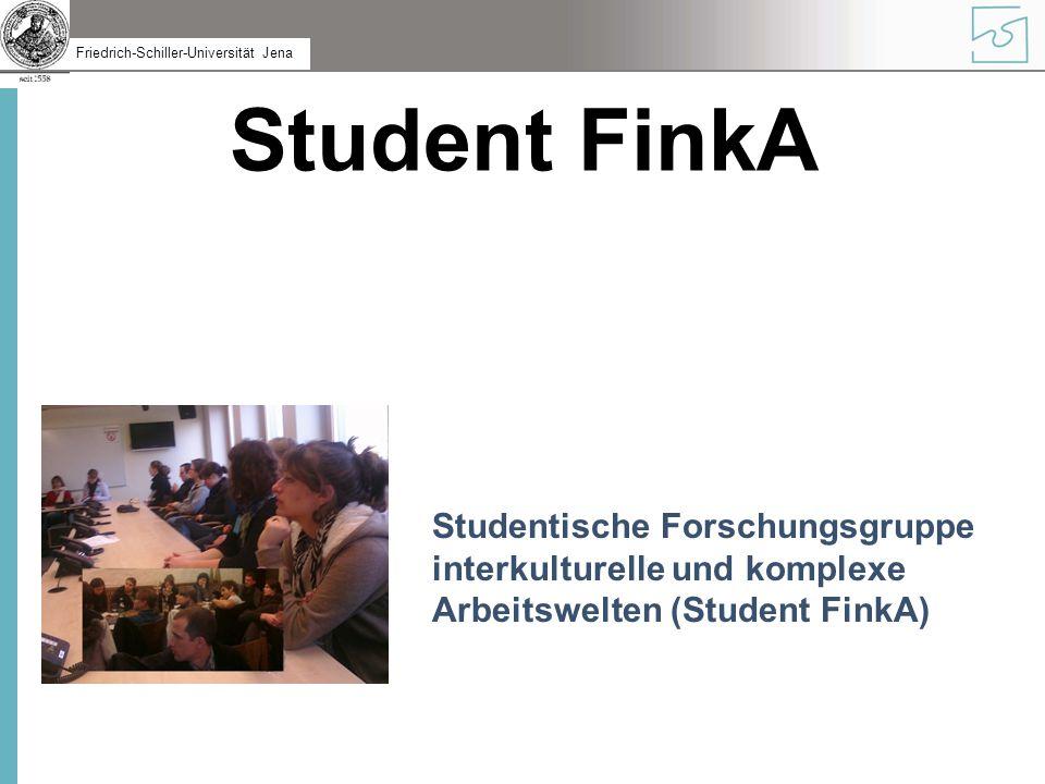 Student FinkA Studentische Forschungsgruppe interkulturelle und komplexe Arbeitswelten (Student FinkA)