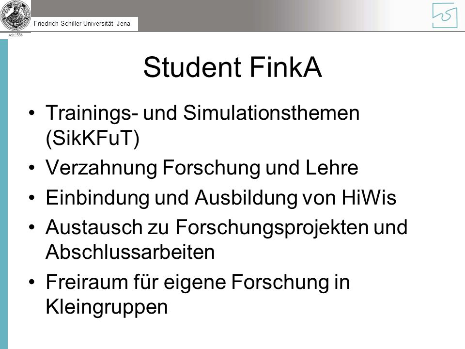 Student FinkA Trainings- und Simulationsthemen (SikKFuT)