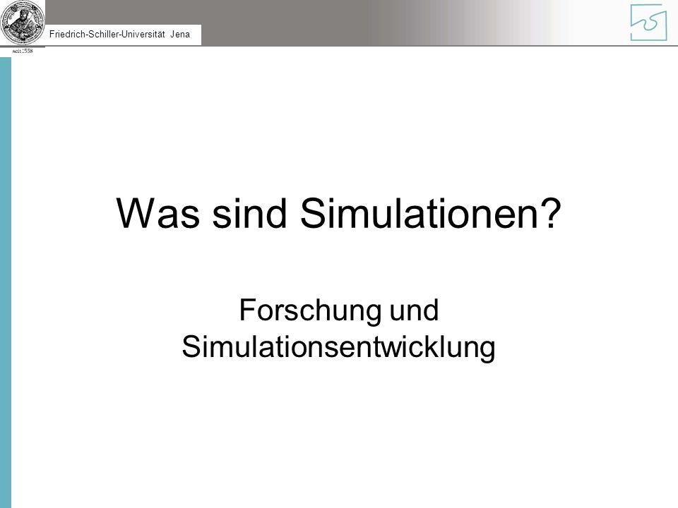 Forschung und Simulationsentwicklung