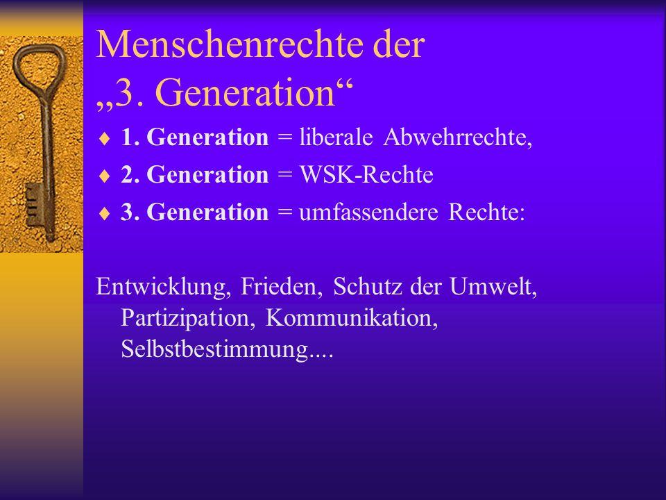 """Menschenrechte der """"3. Generation"""