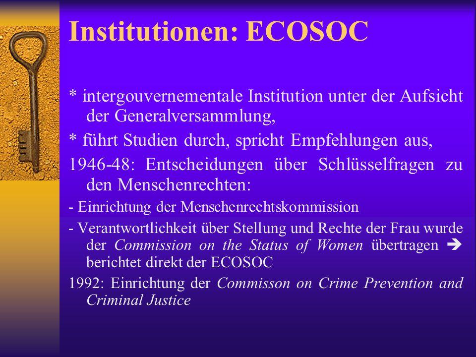 Institutionen: ECOSOC