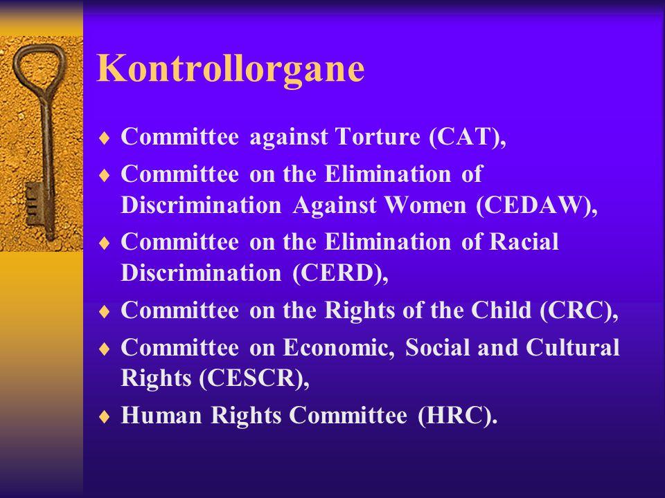 Kontrollorgane Committee against Torture (CAT),