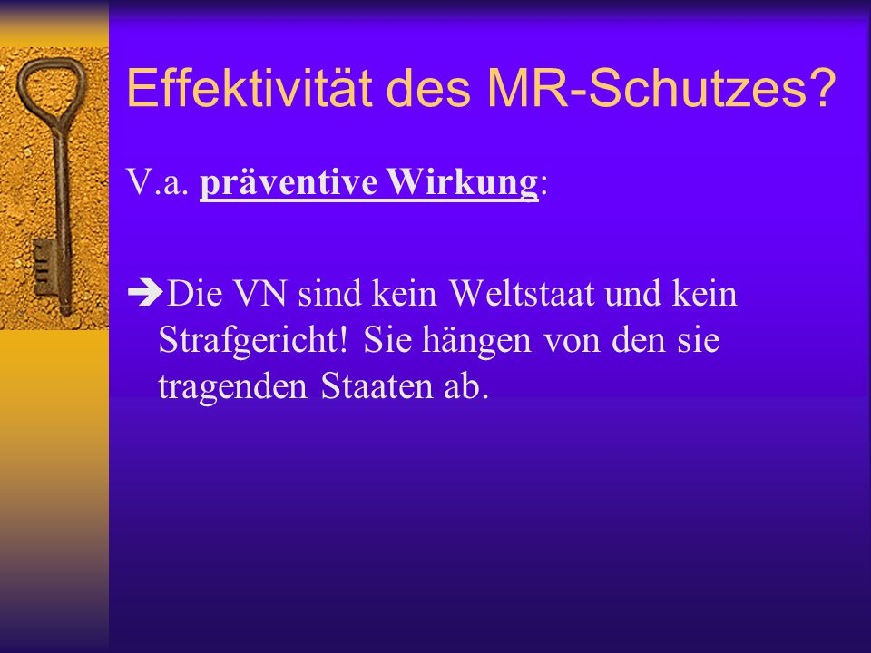 Effektivität des MR-Schutzes