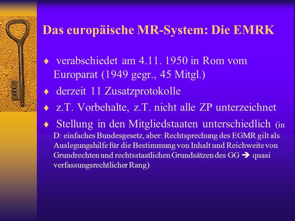 Das europäische MR-System: Die EMRK