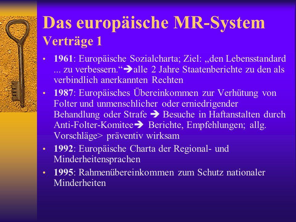 Das europäische MR-System Verträge 1