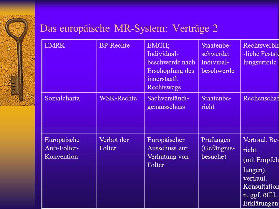 Das europäische MR-System: Verträge 2