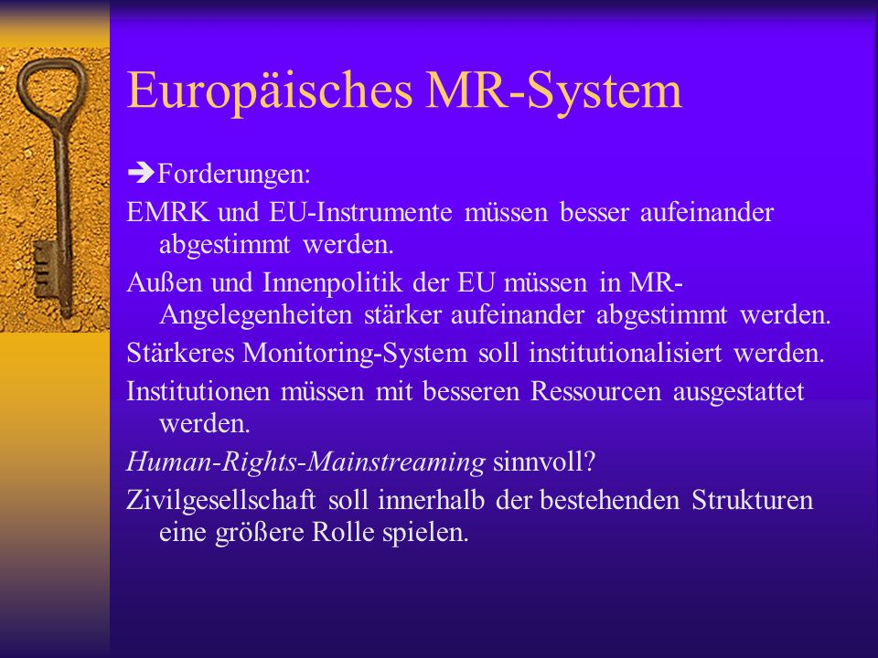 Europäisches MR-System