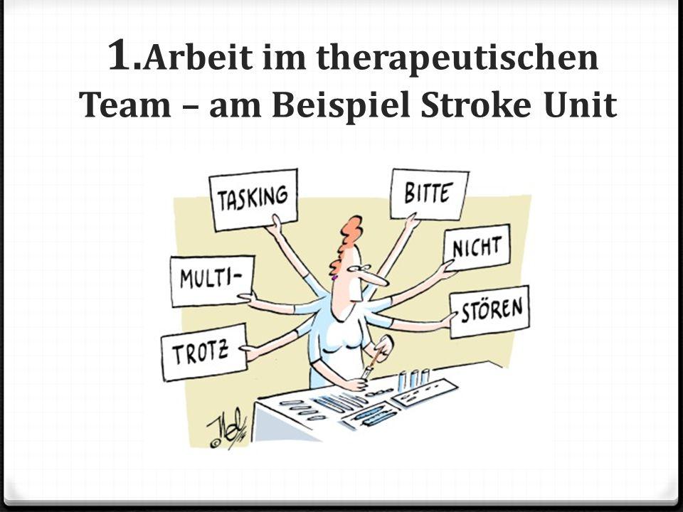 1.Arbeit im therapeutischen Team – am Beispiel Stroke Unit