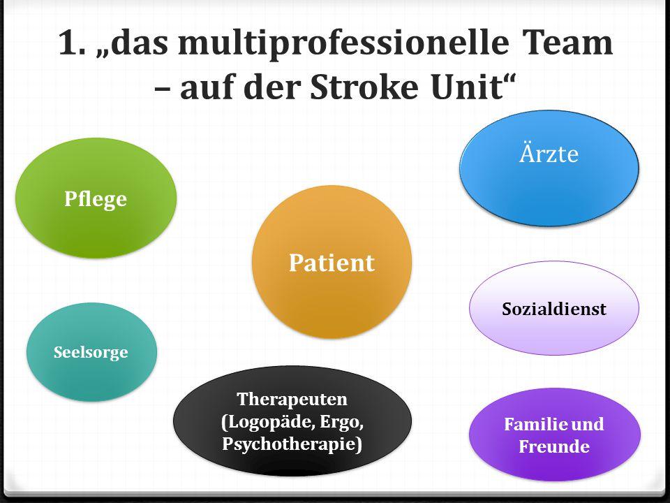 """1. """"das multiprofessionelle Team – auf der Stroke Unit"""