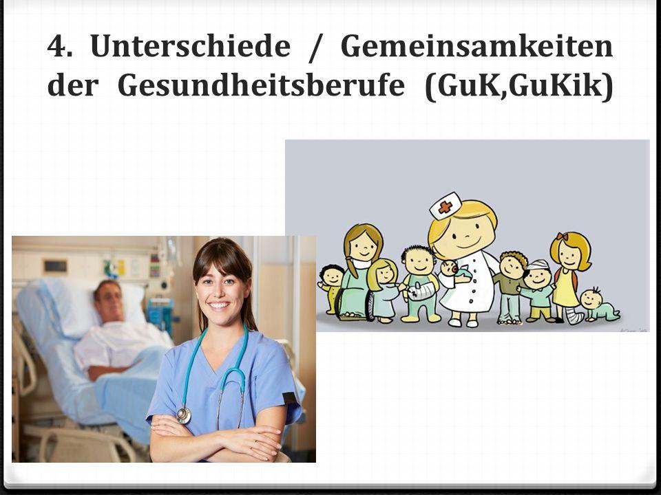 4. Unterschiede / Gemeinsamkeiten der Gesundheitsberufe (GuK,GuKik)