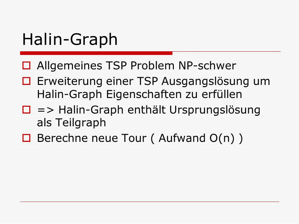 Halin-Graph Allgemeines TSP Problem NP-schwer