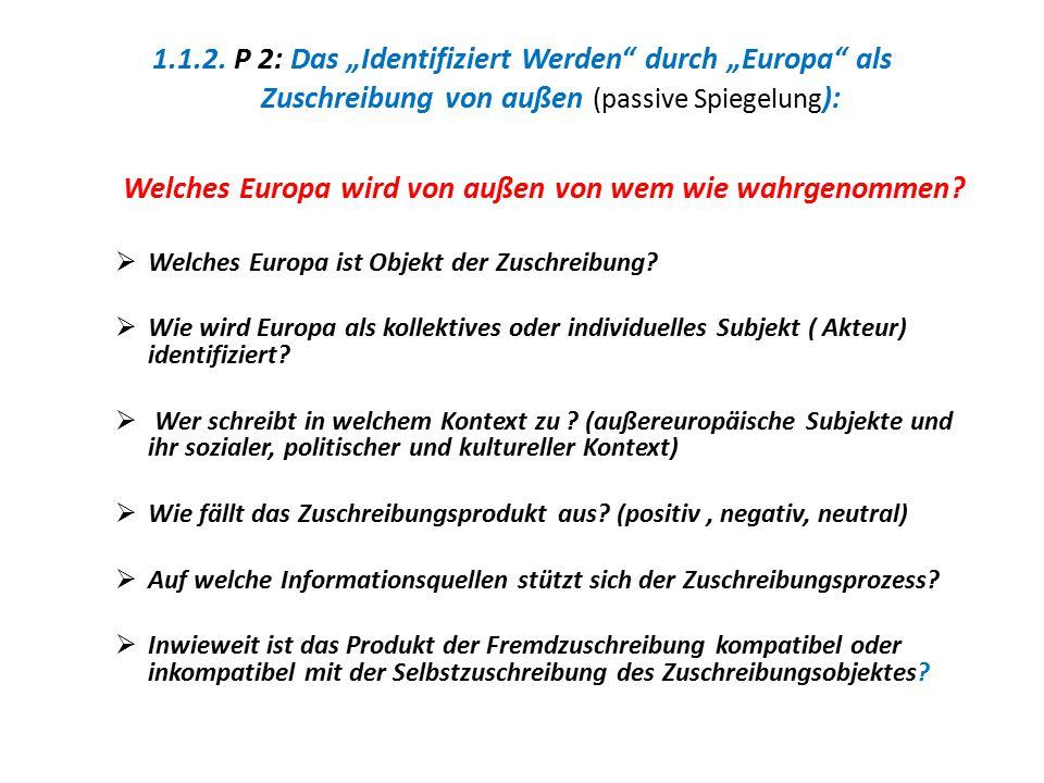 Welches Europa wird von außen von wem wie wahrgenommen