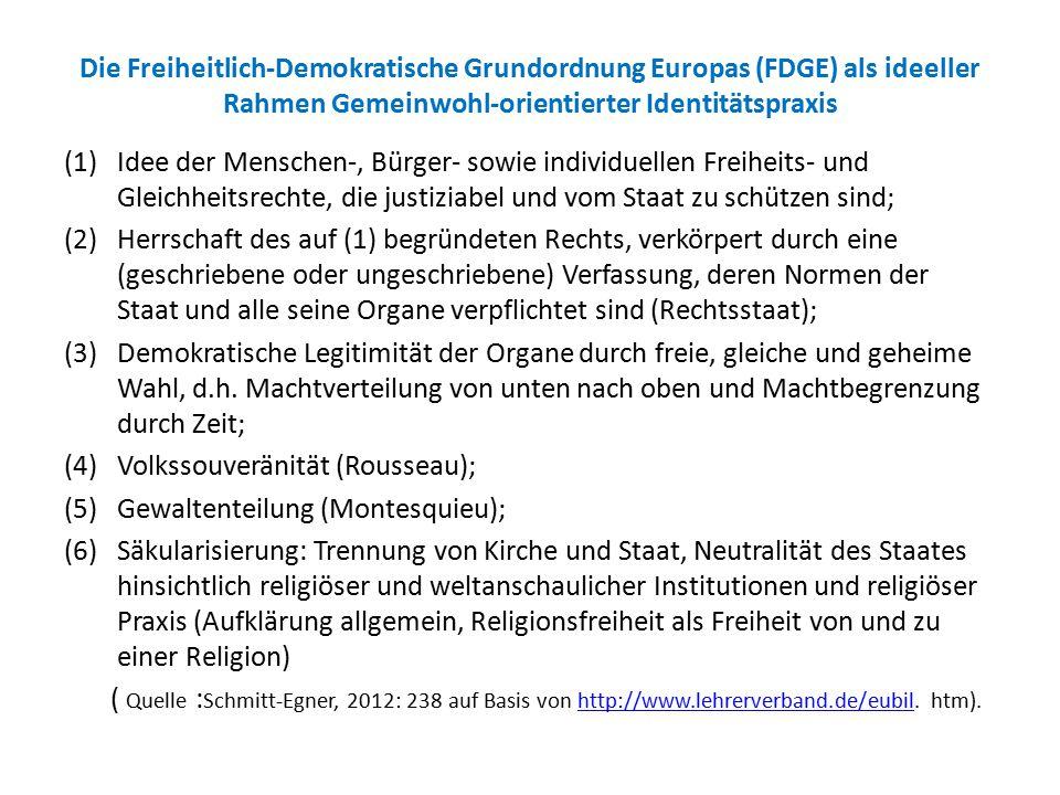 Die Freiheitlich-Demokratische Grundordnung Europas (FDGE) als ideeller Rahmen Gemeinwohl-orientierter Identitätspraxis