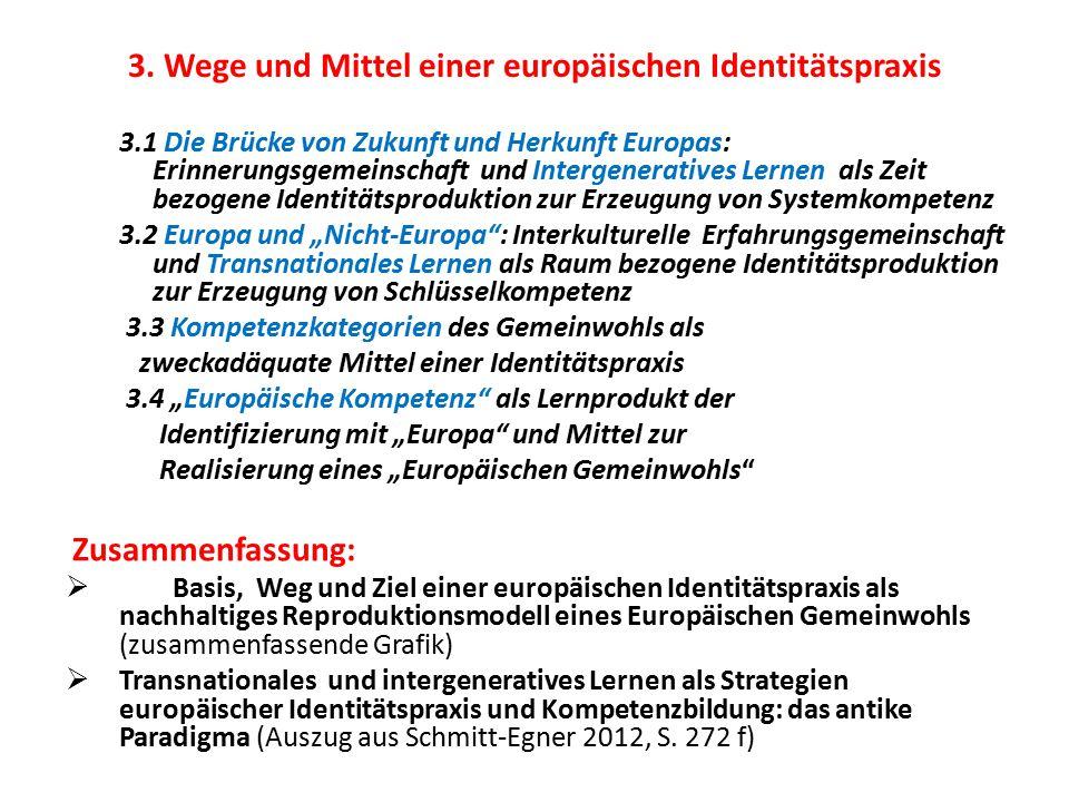3. Wege und Mittel einer europäischen Identitätspraxis