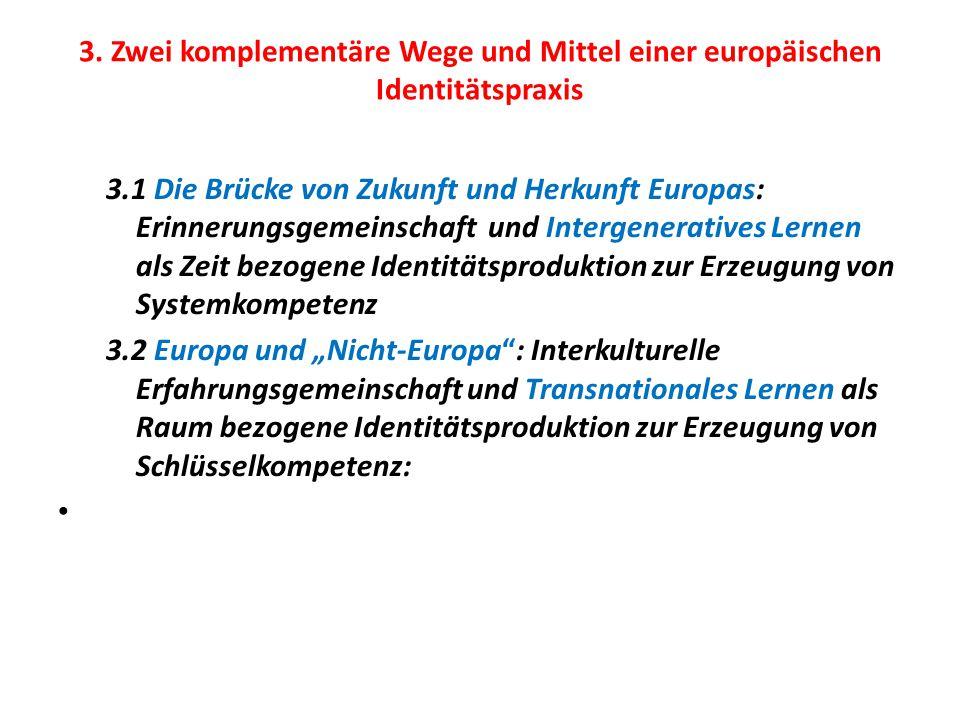 3. Zwei komplementäre Wege und Mittel einer europäischen Identitätspraxis