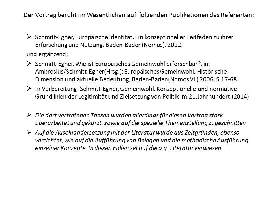 Der Vortrag beruht im Wesentlichen auf folgenden Publikationen des Referenten: