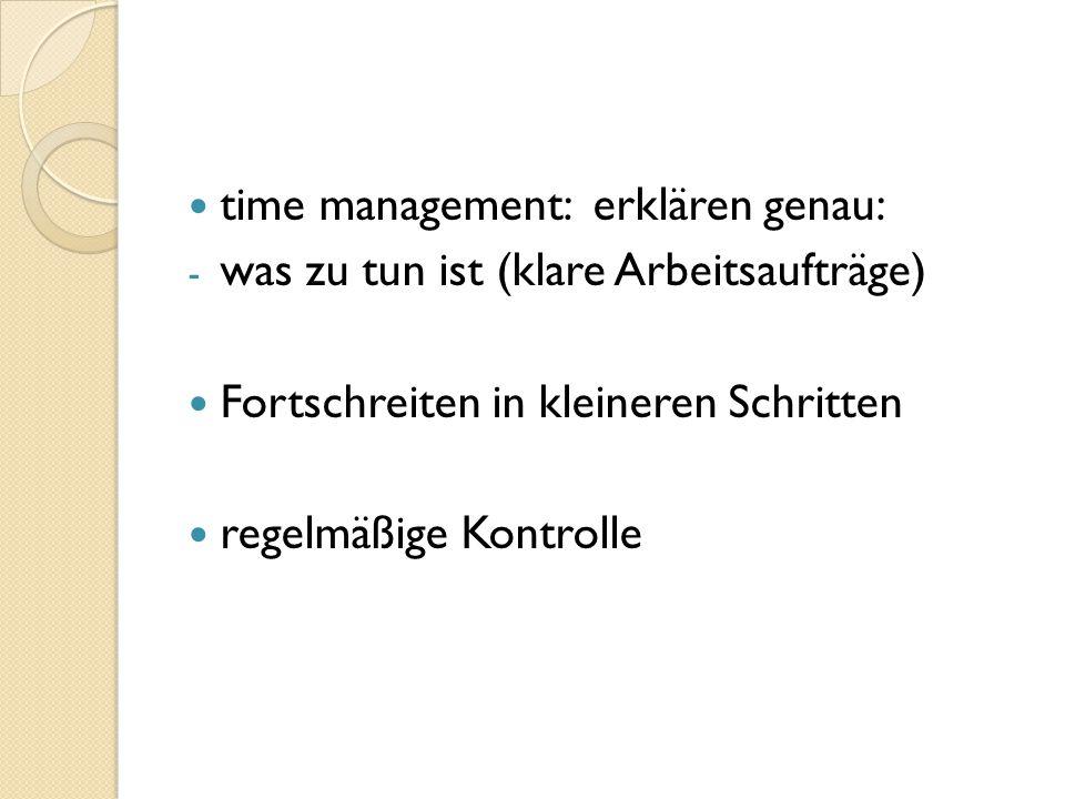 time management: erklären genau:
