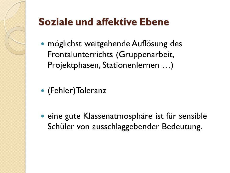 Soziale und affektive Ebene