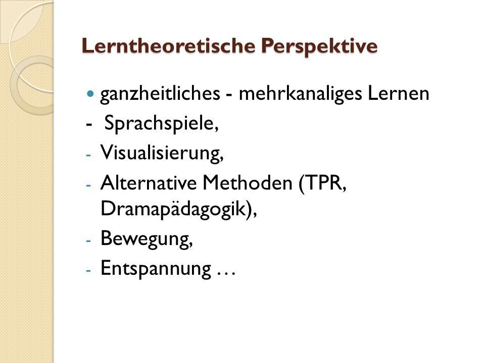Lerntheoretische Perspektive
