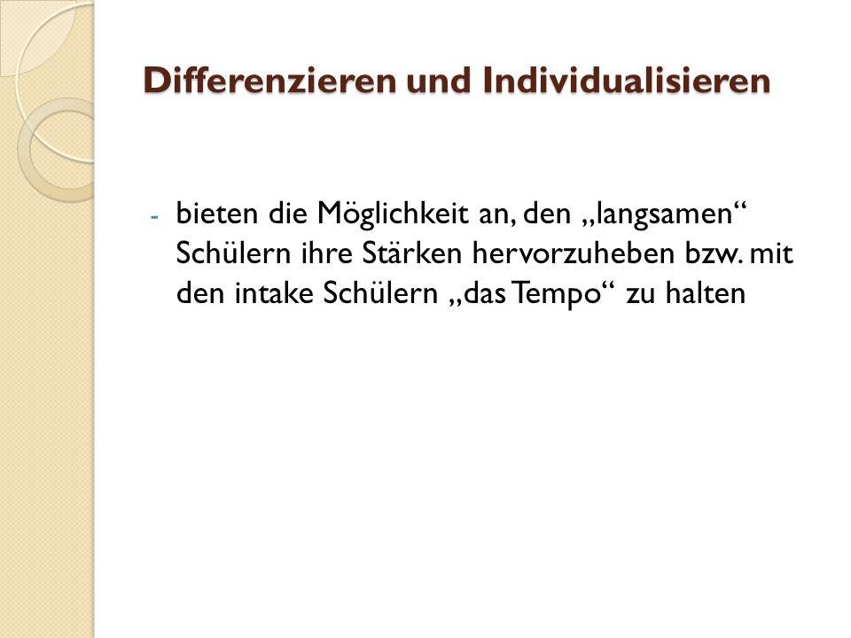 Differenzieren und Individualisieren