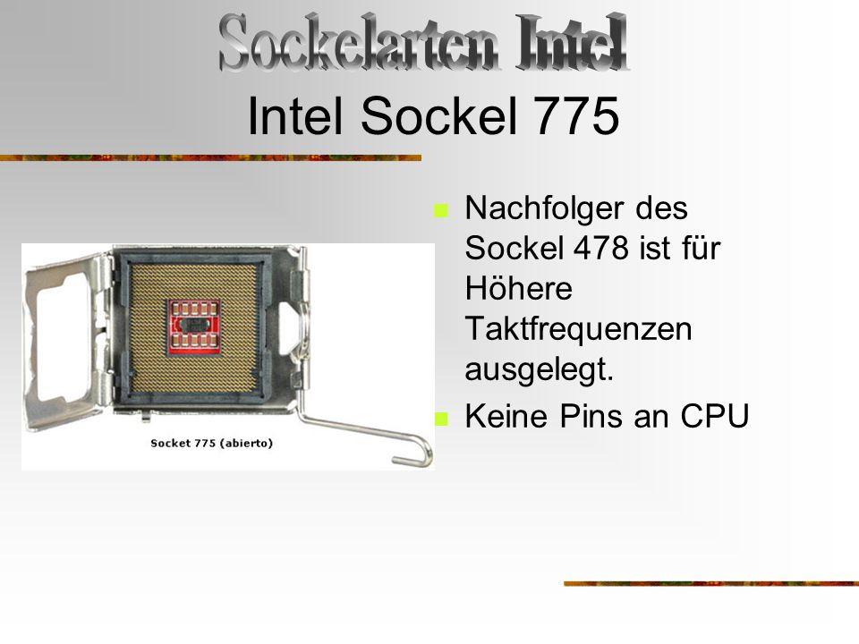 Intel Sockel 775 Sockelarten Intel