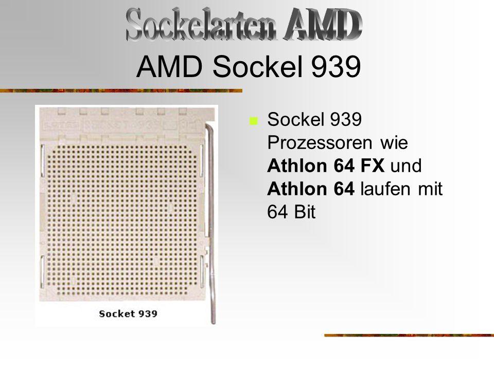 AMD Sockel 939 Sockelarten AMD