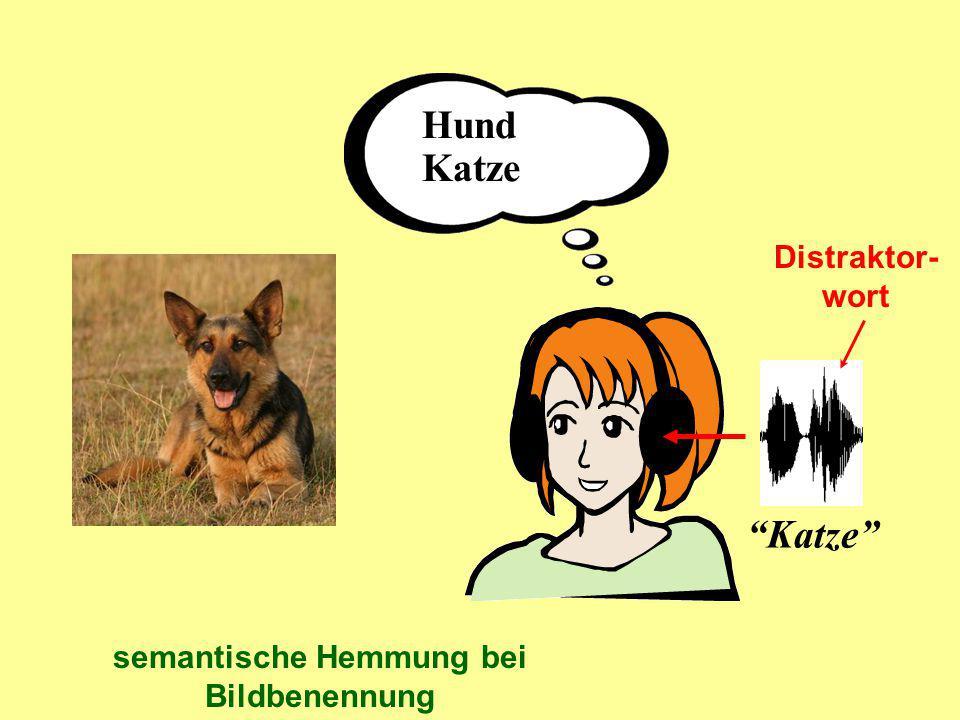 semantische Hemmung bei Bildbenennung