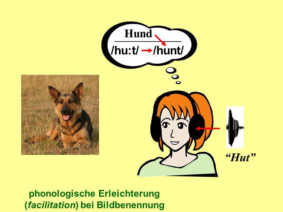 phonologische Erleichterung (facilitation) bei Bildbenennung