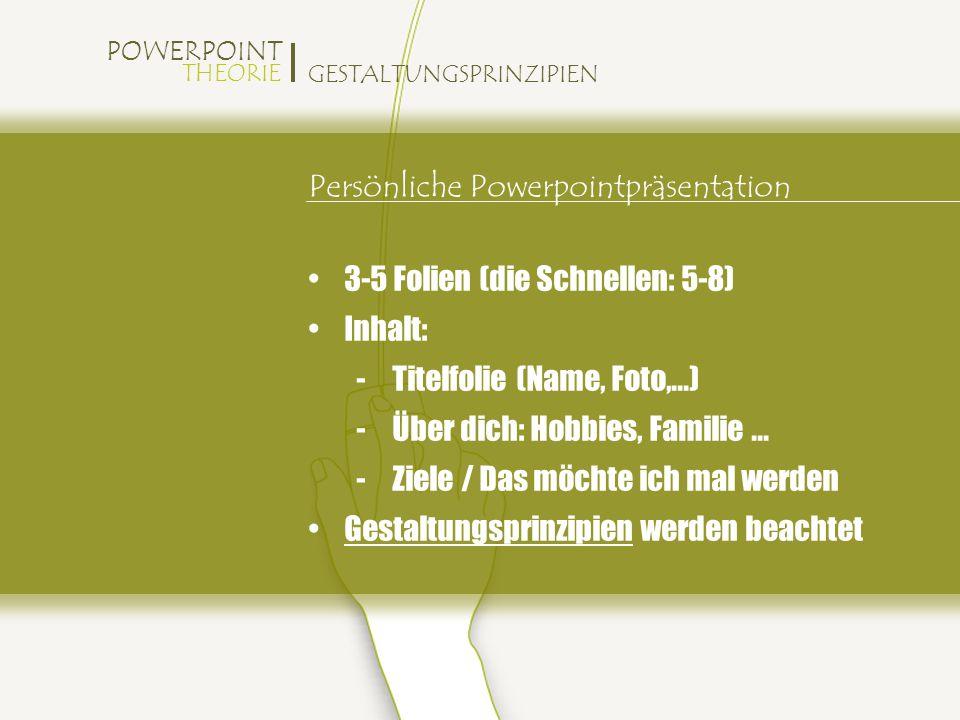 Persönliche Powerpointpräsentation
