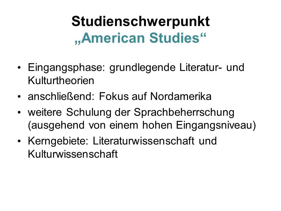 """Studienschwerpunkt """"American Studies"""