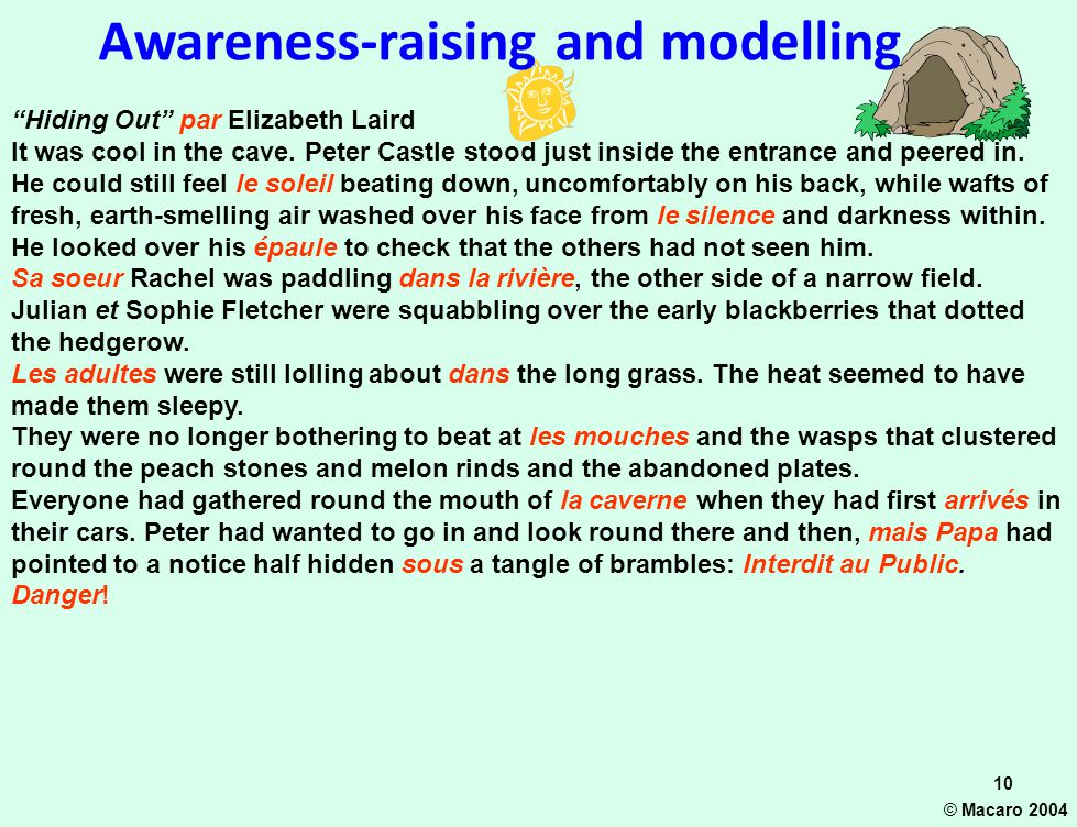 Awareness-raising and modelling