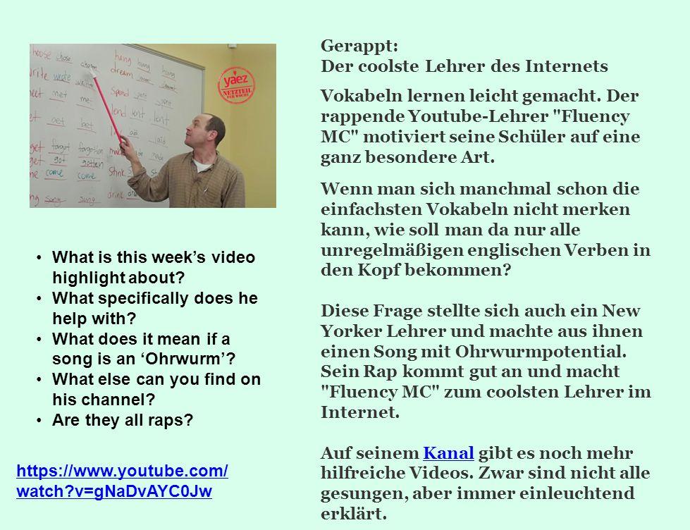 Gerappt: Der coolste Lehrer des Internets.