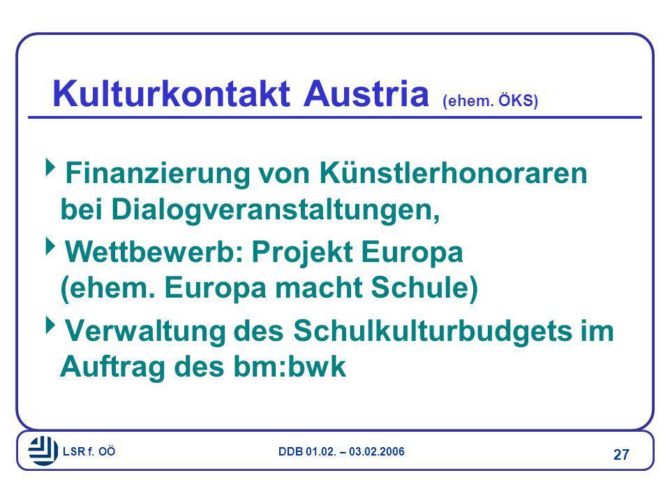 Kulturkontakt Austria (ehem. ÖKS)