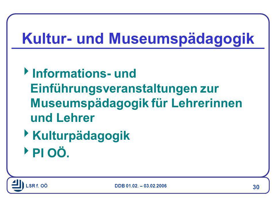Kultur- und Museumspädagogik