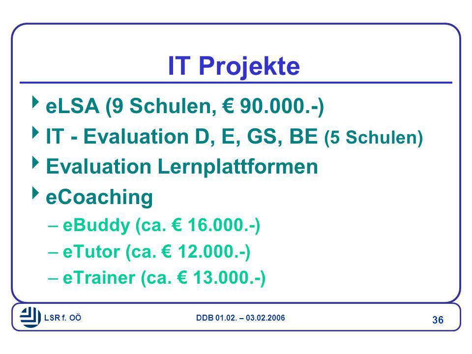 IT Projekte eLSA (9 Schulen, € 90.000.-)