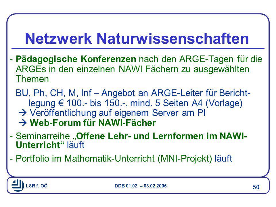 Netzwerk Naturwissenschaften