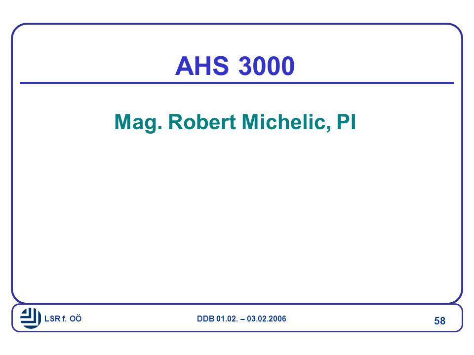 AHS 3000 Mag. Robert Michelic, PI